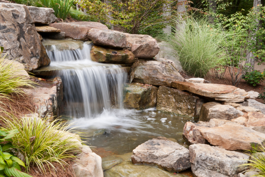 garden wall water features ideas