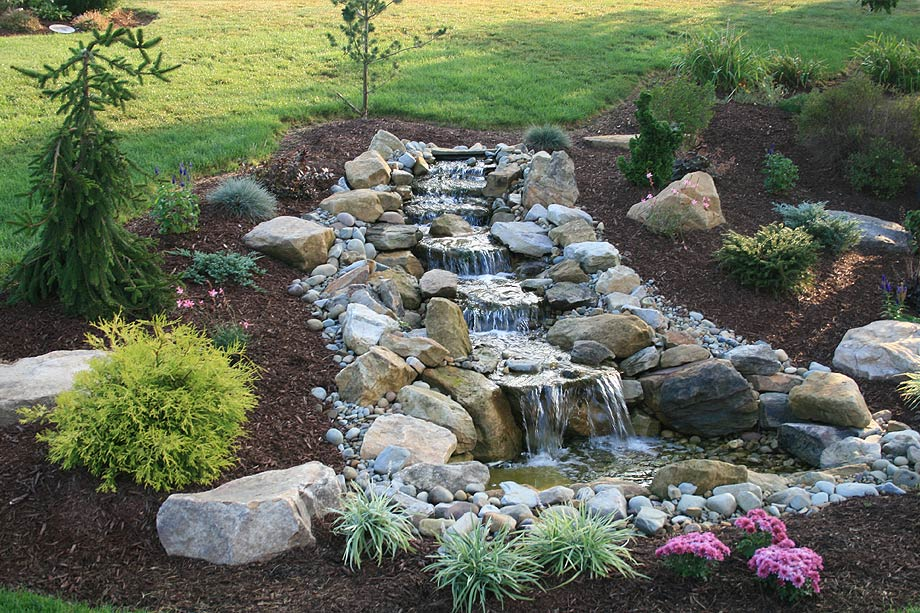 pond waterfall design