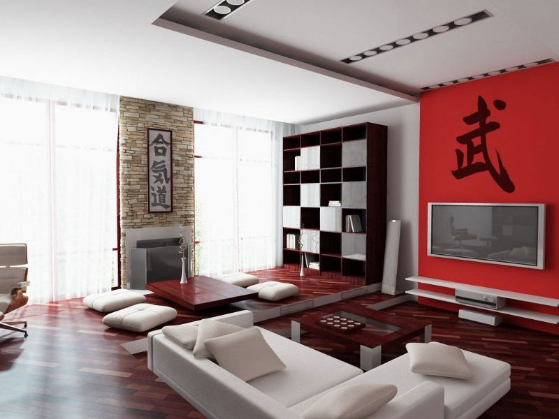 Asian Style Living Room Interior Design Asian Interior Design ...