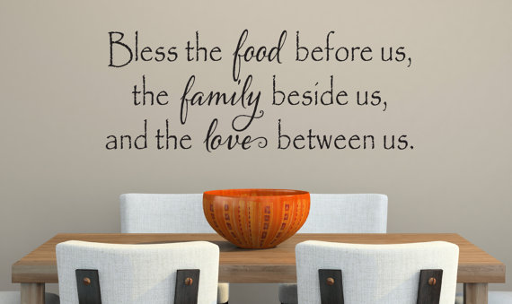 Bless The Food Before Us Wall Decal Kitchen Vinyl Decal