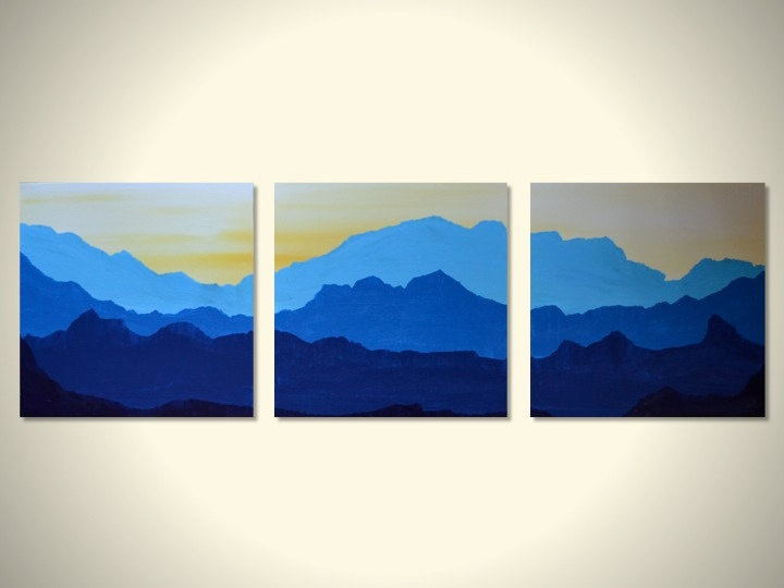 Blue Mountain wall decor