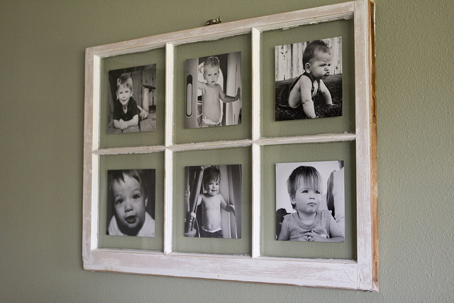 DIY vintage window frames