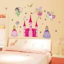 Fairy Princess Castle Wall Stickers Art Girls Nursery Decal