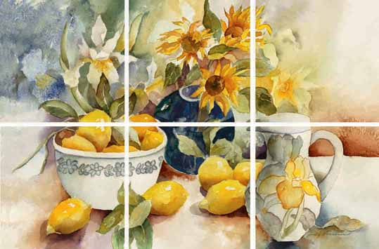 IdeaStix Mural Lemon Table IS0290