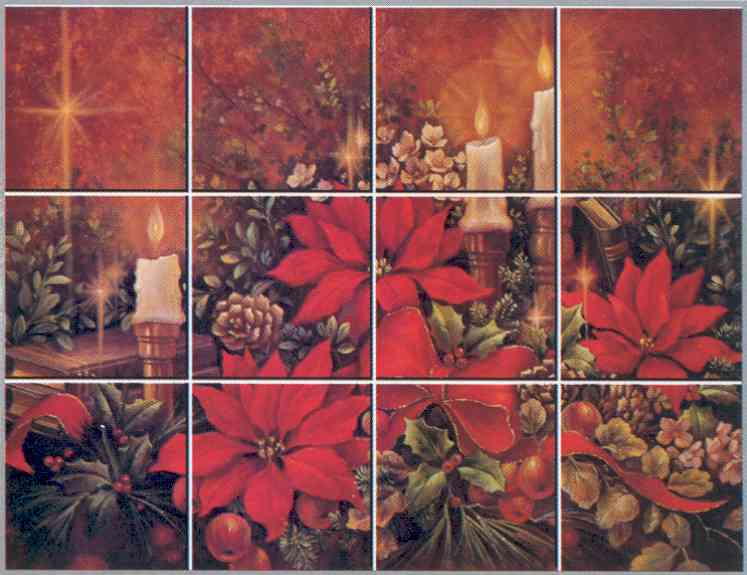 IdeaStix Christmas Poinsettia Mural