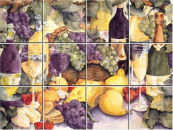 IdeaStix Les Vendanges Mural