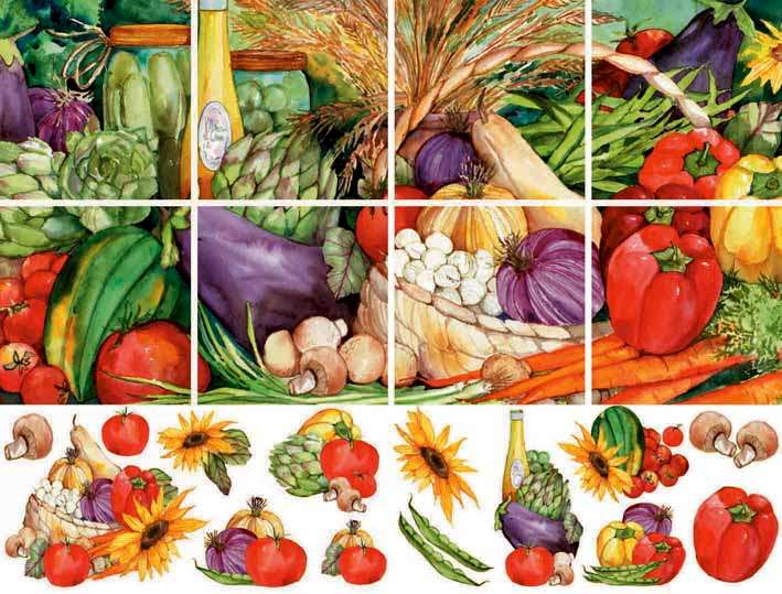 IdeaStix Mural Vegetable Medley
