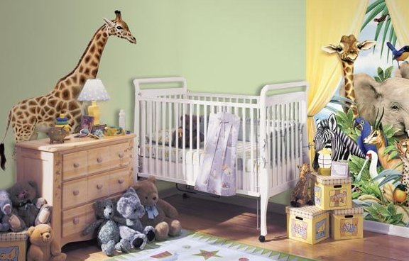 Jungle Theme Bedroom Ideas Zoo-Wallogy