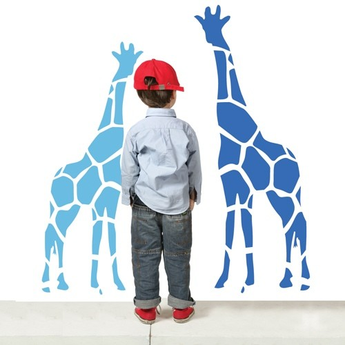 Kids Wall Decal Zoo Giraffes Zoo-Wallogy