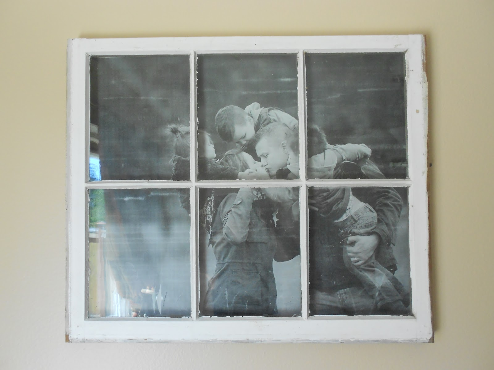 Picture vintage window frames