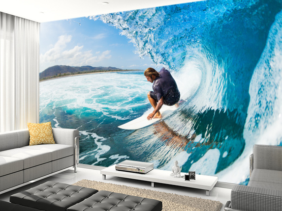 Surf wall murals
