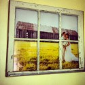 Vintage Window Pane Picture Frame