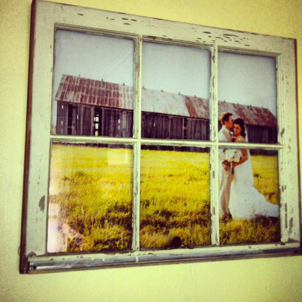 vintage window pane picture frame interior design ideas