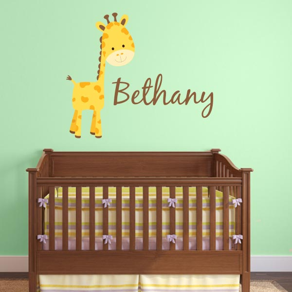 Zoo-Wallogy Gentle Giraffe Wall Canvas Art Wall Sticker Outlet