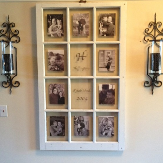 vintage window frames diy