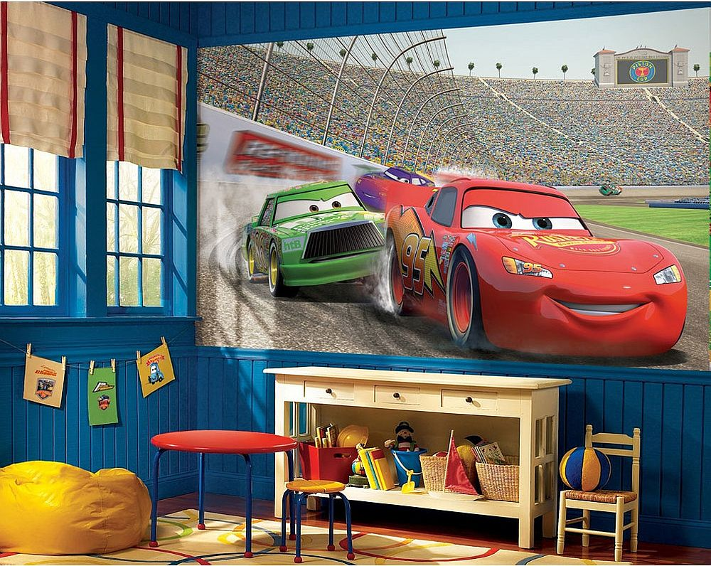 with Disney Cars themed decor and wall decal 25 Disney Inspired
